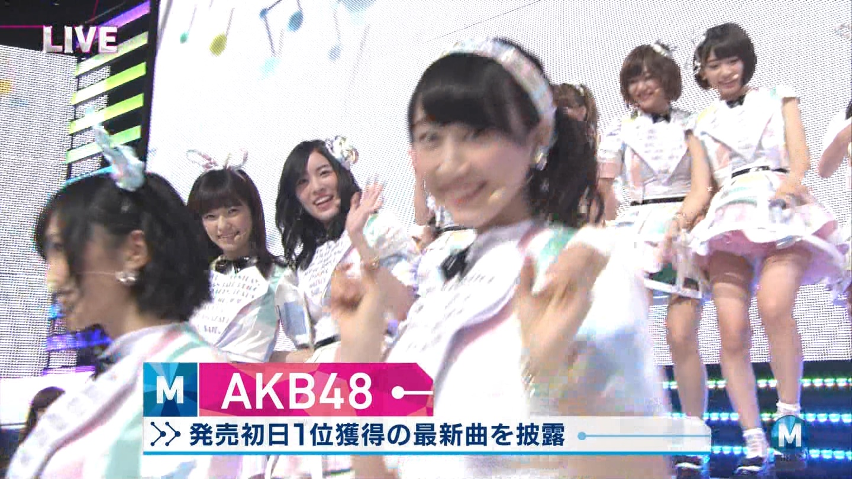 ミュージックステーション AKB48宮脇咲良 心のプラカード 20140829 (7)
