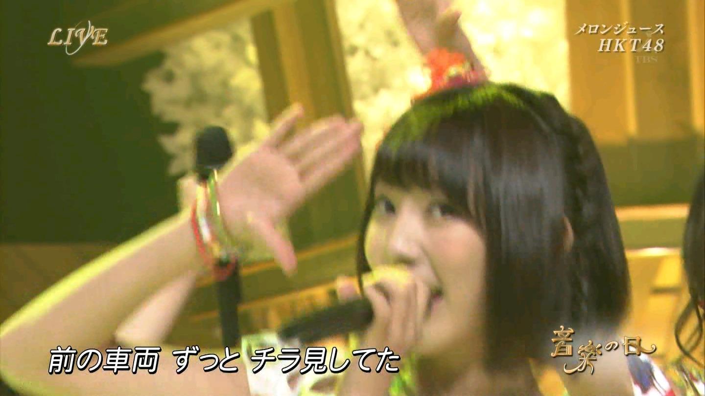 音楽の日 宮脇咲良AKB48 HKT48 20140802 (6)