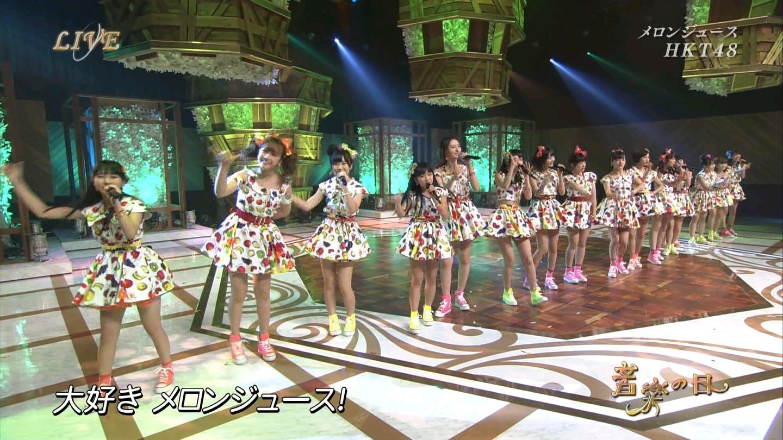 音楽の日 宮脇咲良AKB48 HKT48 20140802 (7)