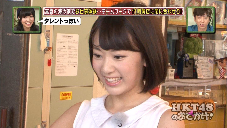 HKT48おでかけ 海の家 宮脇咲良 20140814 (6)