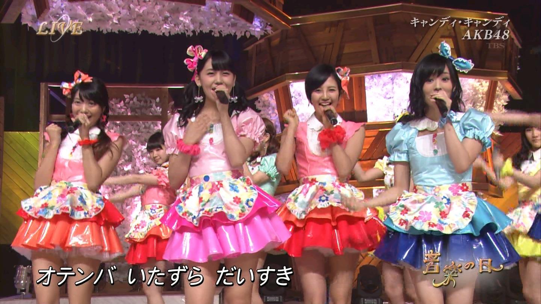 音楽の日 AKB48 キャンディ・キャンディ 20140802 (14)