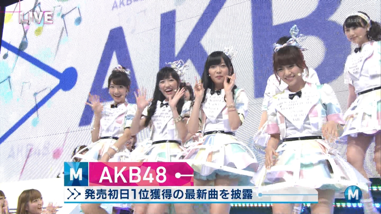 ミュージックステーション AKB48柏木由紀 心のプラカード 20140829 (21)