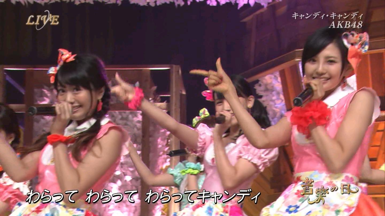 音楽の日 AKB48 キャンディ・キャンディ 20140802 (23)