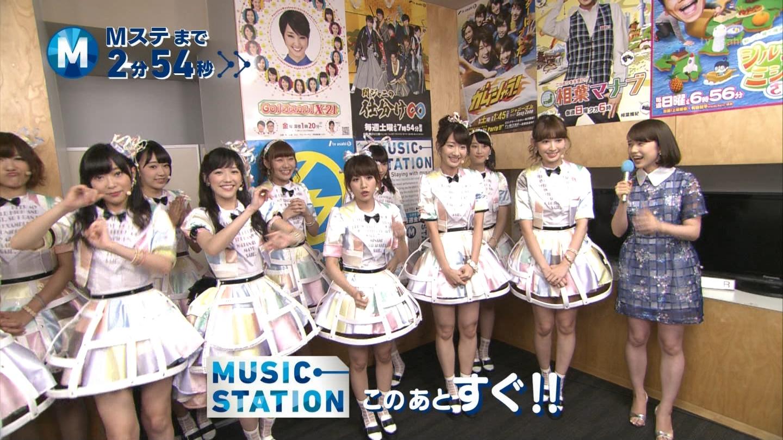 ミュージックステーション AKB48宮脇咲良 心のプラカード 20140829 (5)