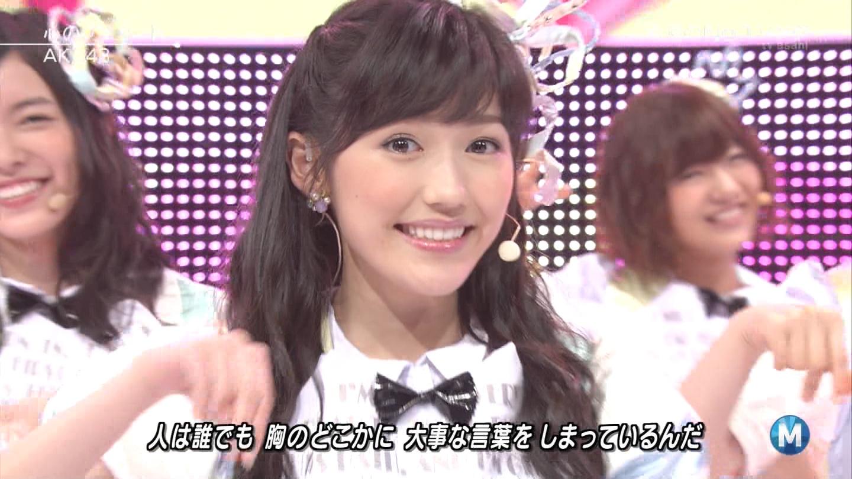 ミュージックステーション AKB48渡辺麻友 心のプラカード 20140829 (33)