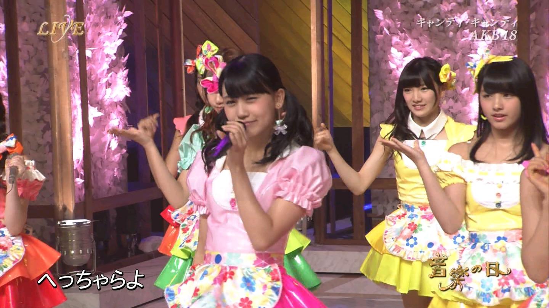 音楽の日 AKB48 キャンディ・キャンディ 20140802 (43)