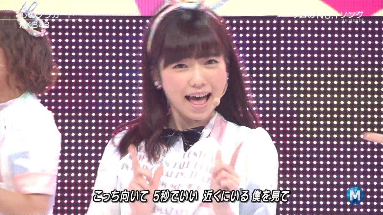 ミュージックステーション AKB48島崎遥香 心のプラカード 20140829 (20)
