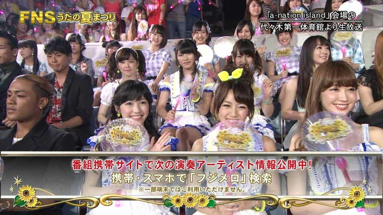 FNS うたの夏まつり2014 渡辺麻友 20140813 (1)