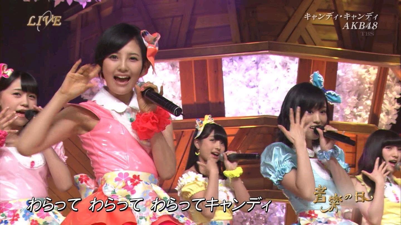 音楽の日 AKB48 キャンディ・キャンディ 20140802 (22)