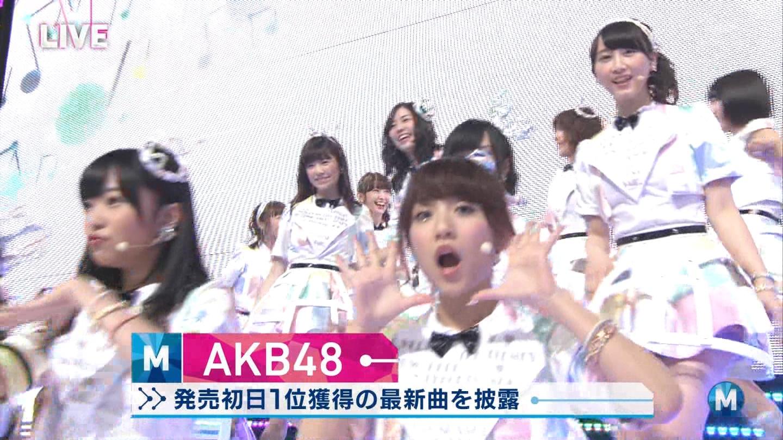 ミュージックステーション AKB48松井玲奈 心のプラカード 20140829 (10)