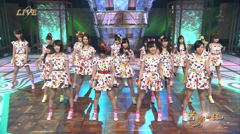 音楽の日 宮脇咲良AKB48 HKT48 20140802 (3)
