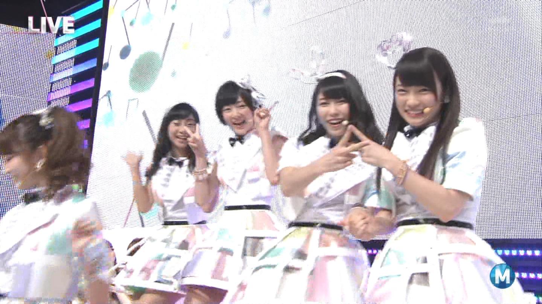 ミュージックステーション AKB48川栄李奈 心のプラカード 20140829 (1)
