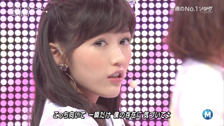 ミュージックステーション AKB48渡辺麻友 心のプラカード 20140829 (28)