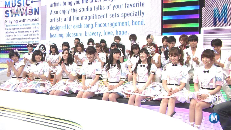 ミュージックステーション AKB48渡辺麻友 心のプラカード 20140829 (17)