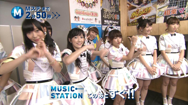 ミュージックステーション AKB48渡辺麻友 心のプラカード 20140829 (1)