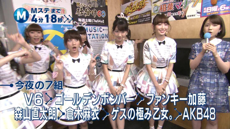 ミュージックステーション AKB48柏木由紀 心のプラカード 20140829 (2)