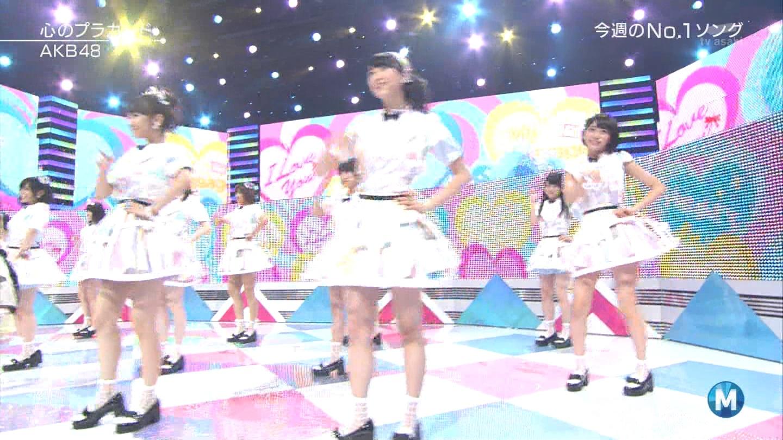 ミュージックステーション AKB48宮脇咲良 心のプラカード 20140829 (14)