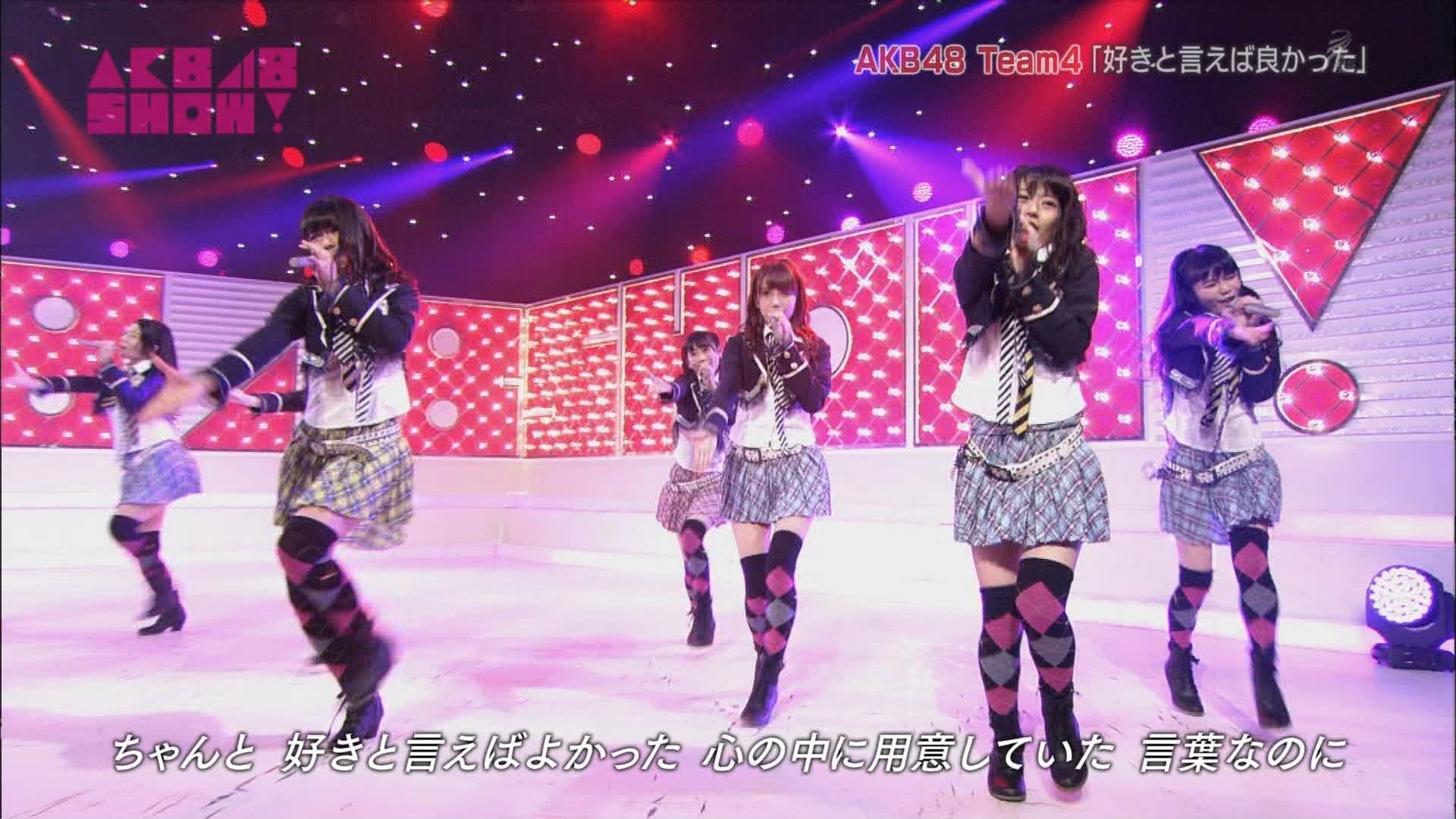 AKB48SHOW チーム4好きといえば良かった 加藤玲奈 20140830 (5)