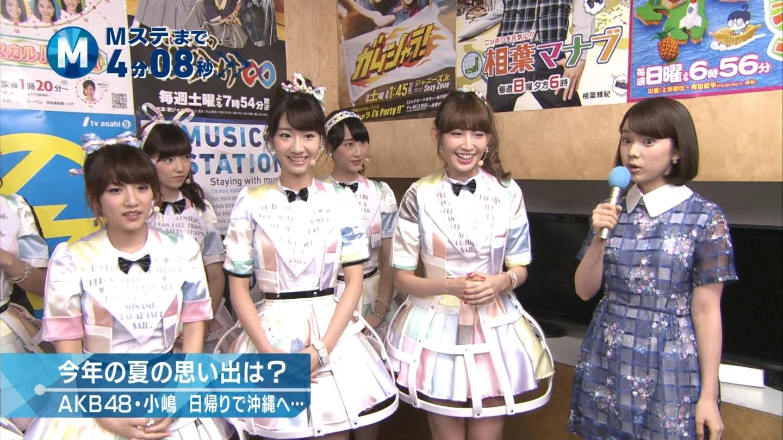 ミュージックステーション AKB48松井玲奈 心のプラカード 20140829 (2)