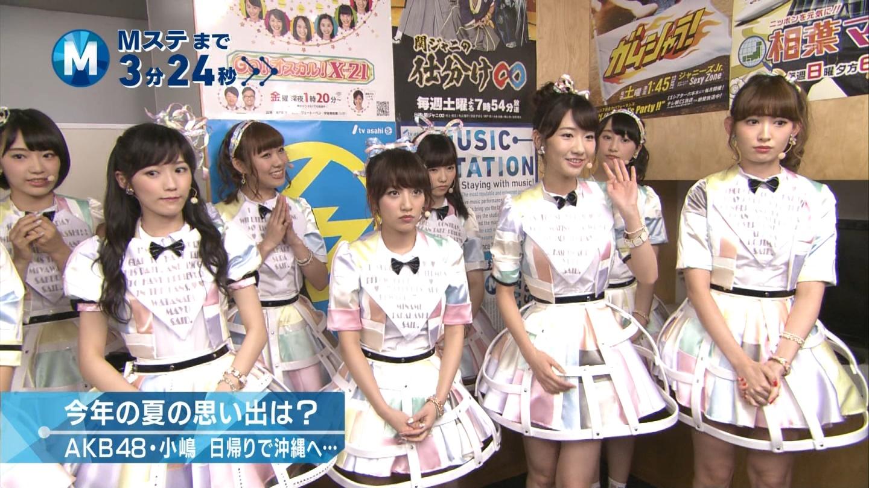 ミュージックステーション AKB48宮脇咲良 心のプラカード 20140829 (2)