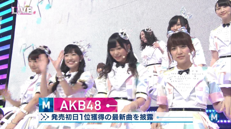 ミュージックステーション AKB48渡辺麻友 心のプラカード 20140829 (4)