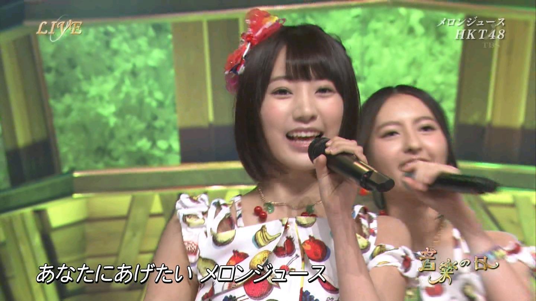 音楽の日 宮脇咲良AKB48 HKT48 20140802 (16)