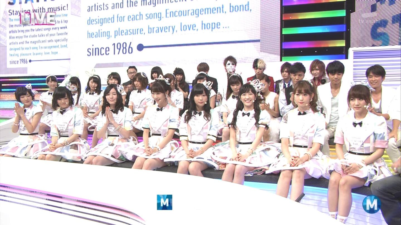 ミュージックステーション AKB48宮脇咲良 心のプラカード 20140829 (12)