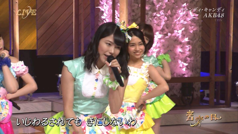 音楽の日 AKB48 キャンディ・キャンディ 20140802 (36)