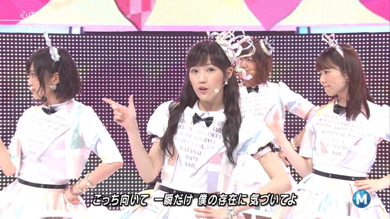 ミュージックステーション AKB48渡辺麻友 心のプラカード 20140829 (27)