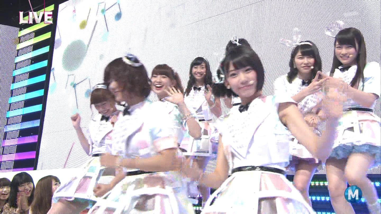 ミュージックステーション AKB48川栄李奈 心のプラカード 20140829 (2)