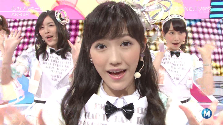 ミュージックステーション AKB48渡辺麻友 心のプラカード 20140829 (39)