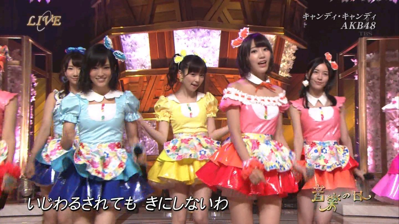 音楽の日 AKB48 キャンディ・キャンディ 20140802 (35)