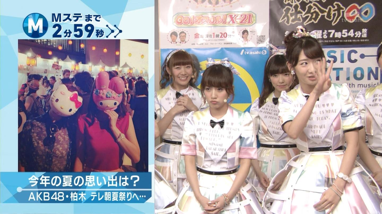 ミュージックステーション AKB48島崎遥香 心のプラカード 20140829 (11)