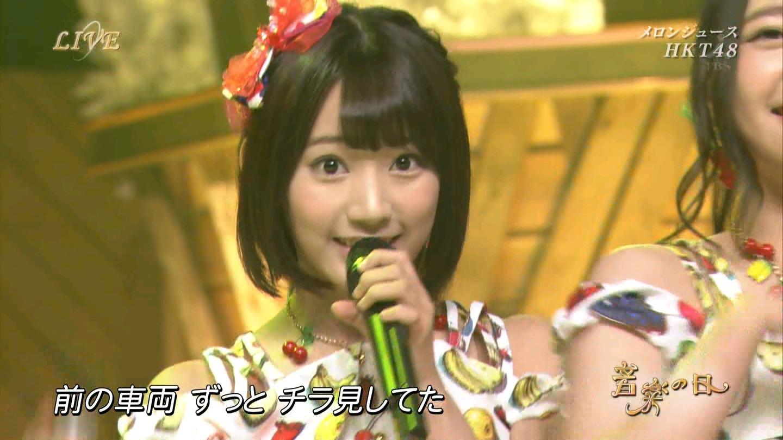 音楽の日 宮脇咲良AKB48 HKT48 20140802 (4)