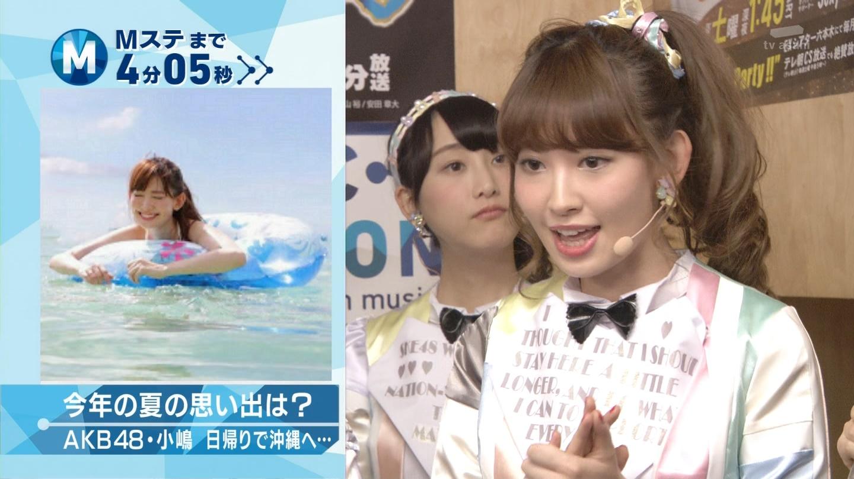 ミュージックステーション AKB48松井玲奈 心のプラカード 20140829 (1)