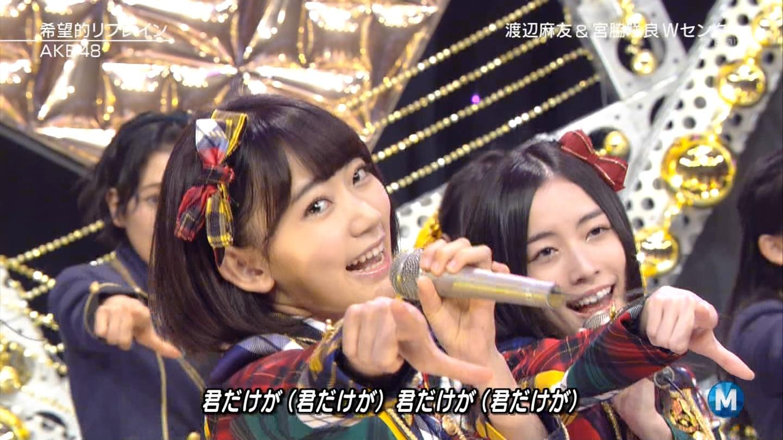 宮脇咲良 Mステ AKB48希望的リフレイン20141121 (71)
