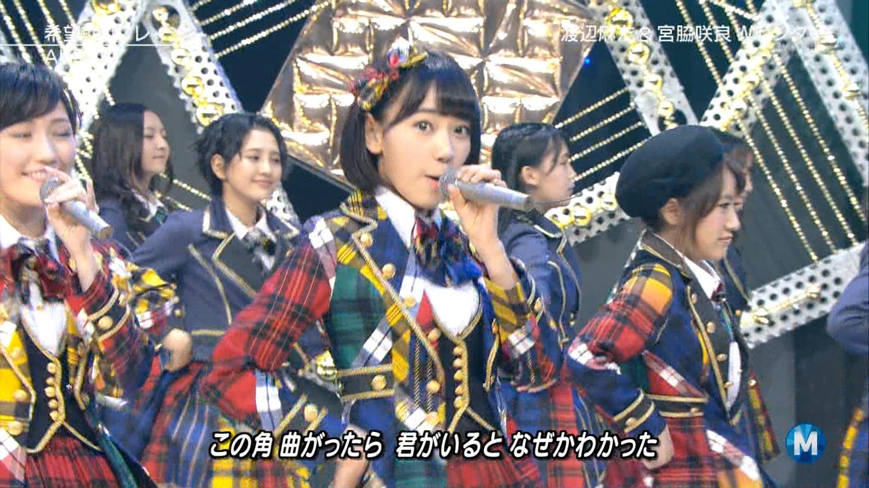 宮脇咲良 Mステ AKB48希望的リフレイン20141121 (49)