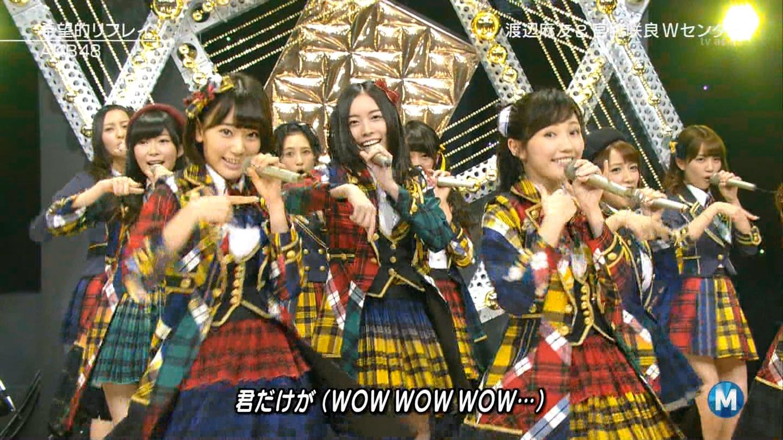 宮脇咲良 Mステ AKB48希望的リフレイン20141121 (73)