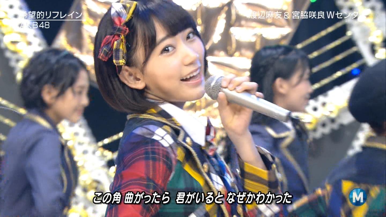 宮脇咲良 Mステ AKB48希望的リフレイン20141121 (50)