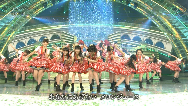 宮脇咲良 HKT48 紅白歌合戦2014 (18)