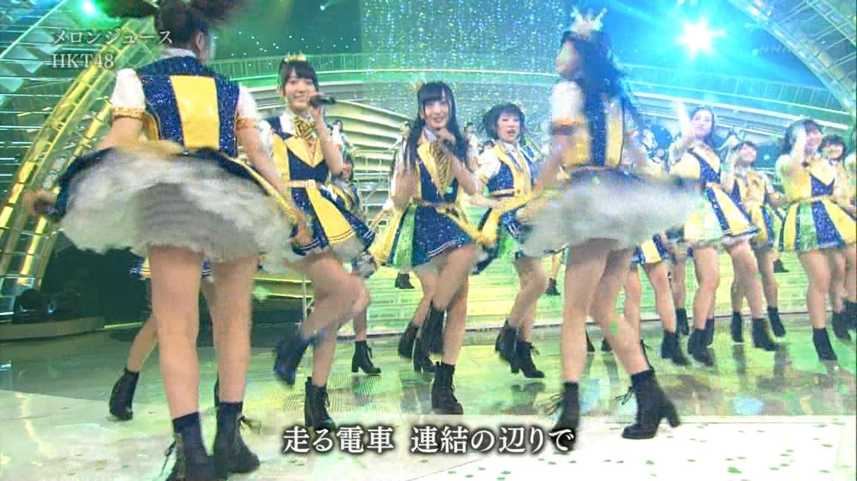 宮脇咲良 HKT48 紅白歌合戦2014 (8)