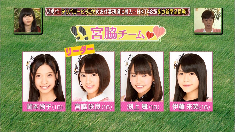 宮脇咲良 HKT48おでかけ ピザ 20141211 (32)