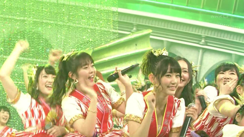 宮脇咲良 HKT48 紅白歌合戦2014 (33)