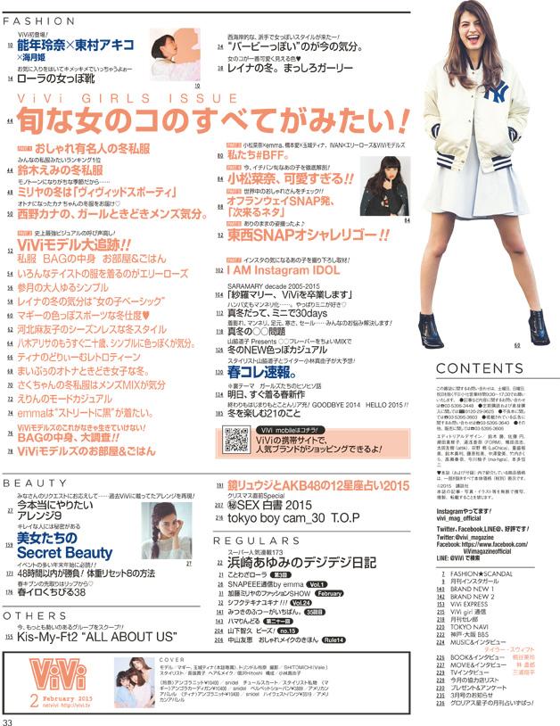 ViVi 2015年2月号 宮脇咲良などAKB48 12星座占い掲載   (2)