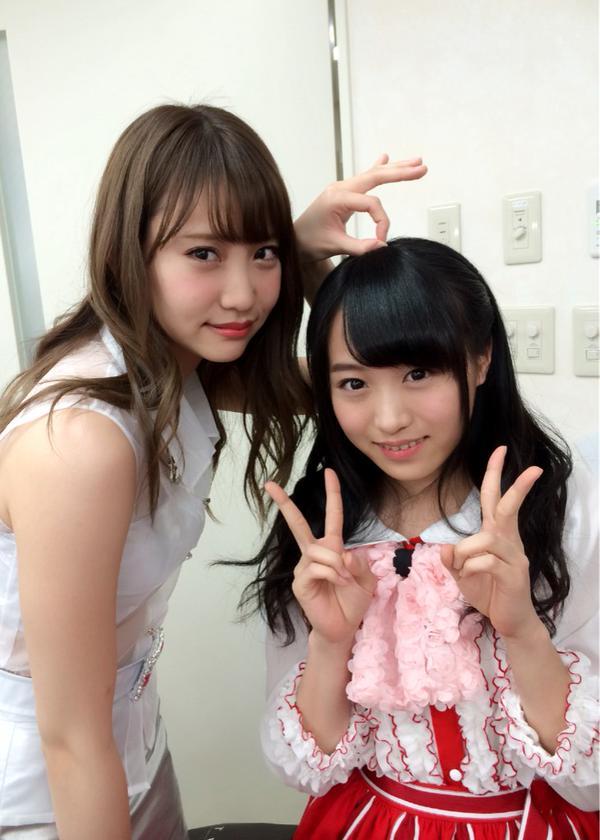 AKB48永尾まりや&坂口凪沙のツーショット