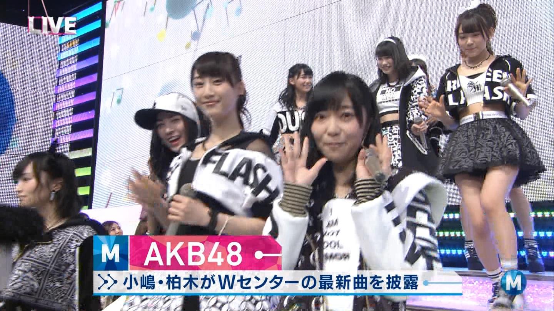 宮脇咲良たん専用 Mステ AKB48「Green Flash」 ミュージックステーション (9)