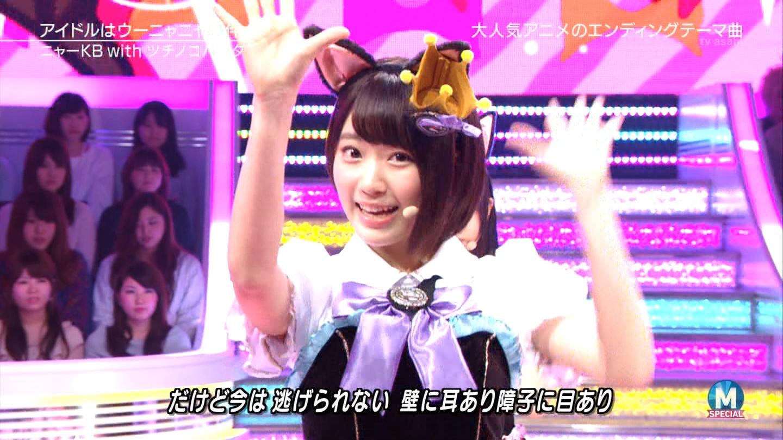 宮脇咲良 Mステ ミュージックステーション ニャーKB 20150403 (47)