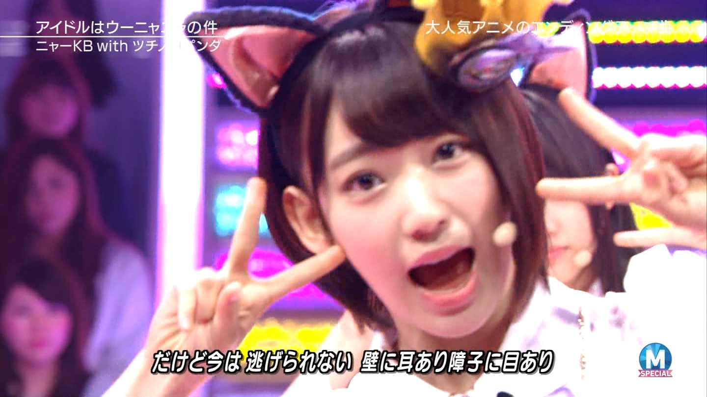 宮脇咲良 Mステ ミュージックステーション ニャーKB 20150403 (50)