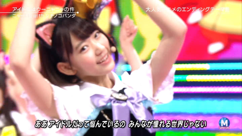 宮脇咲良 Mステ ミュージックステーション ニャーKB 20150403 (69)