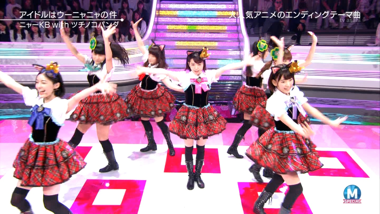 宮脇咲良 Mステ ミュージックステーション ニャーKB 20150403 (73)